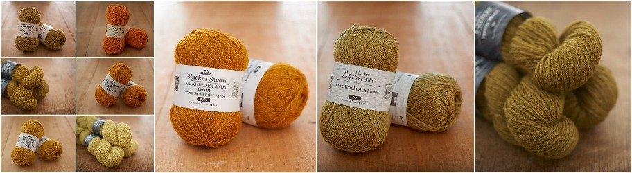 Yello & Orange Knitting Yarns